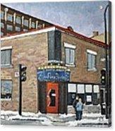 Restaurant A La Fine Pointe Acrylic Print by Reb Frost