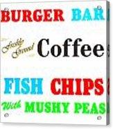 Restaurant Signs Acrylic Print