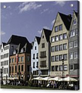 Restaurants And Brewpubs Along The Rhine Cologne Acrylic Print