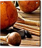 Resting Hula Implements Acrylic Print