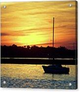 Resting In A Mango Sunset Acrylic Print