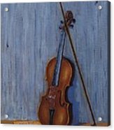 Resting Violin Acrylic Print