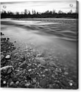 Restless River Acrylic Print by Davorin Mance