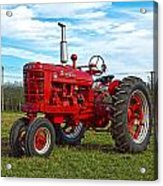 Restored Farmall Tractor Hdr Acrylic Print