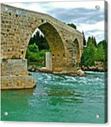 Restored Roman Bridge Over Eurynedan River-turkey Acrylic Print