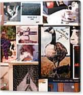 Restroom Wall Collage Acrylic Print