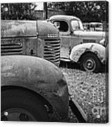 Retired Dodge Trucks Acrylic Print