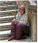 Retired In Greece Acrylic Print
