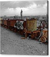 Retired Mining Ore Cars Acrylic Print