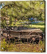 Retired Wagon At Thousand Trails Acrylic Print