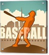 Retro Baseball Poster. Vector Acrylic Print
