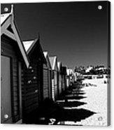 Retro Beach Huts II Acrylic Print