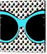 Retro Blue Cat Sunglasses Acrylic Print