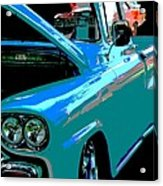 Retro Blue Truck Acrylic Print