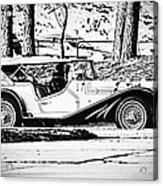 Retro Cabriolet Acrylic Print