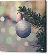 Retro Christmas Tree Decoration Acrylic Print
