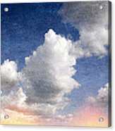 Retro Clouds 2 Acrylic Print