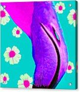 Retro Flamingo Acrylic Print