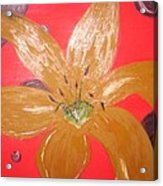 Retro Flower Acrylic Print
