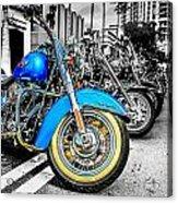 Retro Harleys Acrylic Print