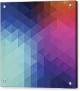 Retro Hexagon Abstract Background Acrylic Print