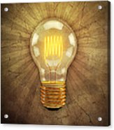 Retro Light Bulb Acrylic Print