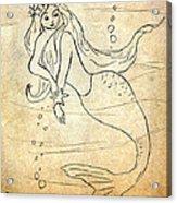 Retro Mermaid Acrylic Print