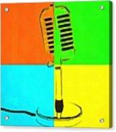 Retro Microphone Pop Art 2 Acrylic Print