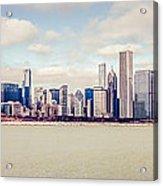 Retro Panorama Chicago Skyline Picture Acrylic Print