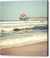 Retro Photo Of Huntington Beach Pier  Acrylic Print