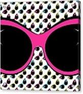 Retro Pink Cat Sunglasses Acrylic Print