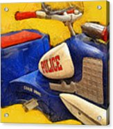 Retro Police Tricycle Acrylic Print