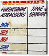 Retro Roxy Cinema Sign Acrylic Print