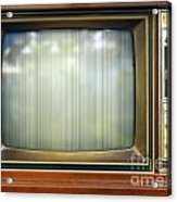 Retro Style Television Set With Bad Picture Acrylic Print