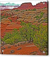 Return Trail To Elephant Hill In Needles District Of Canyonlands National Park-utah Acrylic Print