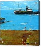Returning Fishing Trawler  Acrylic Print
