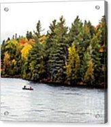 Returning From A Canoe Trip - V2 Acrylic Print