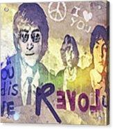 Revolution Acrylic Print by Mo T