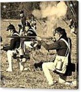 Revolutionary War Battle Acrylic Print