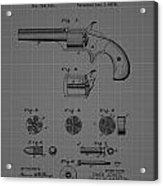 Revolver Firearm Patent Blueprint Drawing Acrylic Print
