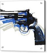 Revolver On White - Left Facing Acrylic Print by Michael Tompsett