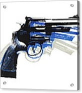 Revolver On White - Right Facing Acrylic Print