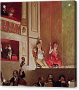 Revue At The Theatre Des Varietes, C.1885 Oil On Canvas Acrylic Print