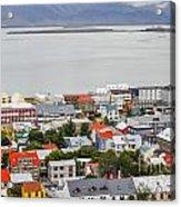 Reykjavik On The Water Acrylic Print
