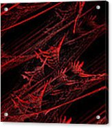 Rhapsody In Red V - Panorama - Abstract - Fractal Art Acrylic Print