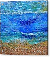 Rhapsody On The Sea Square Crop Acrylic Print