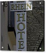 Rhine Hotel St Martin Sign  Acrylic Print
