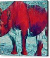 Rhino Acrylic Print by Jack Zulli