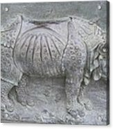 Rhino Relief - Church Door Detail Pisa Acrylic Print