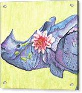 Rhino Whimsy Acrylic Print